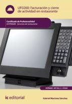 Facturación y cierre de actividad en restaurante. HOTR0608 (ebook)