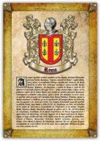 Apellido Roma / Origen, Historia y Heráldica de los linajes y apellidos españoles e hispanoamericanos