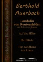 Landolin von Reutershöfen und drei weitere Romane (ebook)