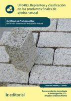 Replanteo y clasificación de los productos finales en piedra natural. IEXD0108  (ebook)