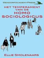 Het temperament van de Homo Sociologicus (ebook)