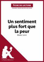 Un sentiment plus fort que la peur de Marc Levy (Fiche de lecture) (ebook)