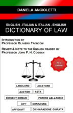 English - Italian & Italian - English Dictionary of Law