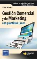 Gestión Comercial y de Marketing con plantillas Excel (ebook)