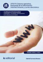 Sistema Operativo, búsqueda de información: Internet-Intranet y correo electrónico. ADGG0208 - Actividades administrativas en la relación con el cliente (ebook)
