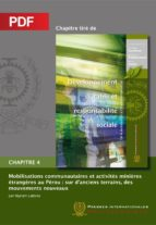 Mobilisations communautaires et activités minières étrangères au Pérou (Chapitre PDF) (ebook)
