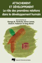 Attachement et développement (ebook)