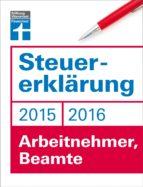 Steuererklärung 2015/2016 - Arbeitnehmer, Beamte (ebook)