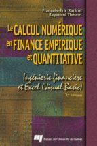 Le calcul numérique en finance empirique et quantitative (ebook)