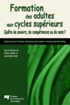 Formation des adultes aux cycles supérieurs (ebook)