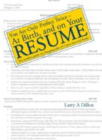 You're Only Perfect Twice: At Birth and on Your Resume~At Birth and on Your Resume (ebook)