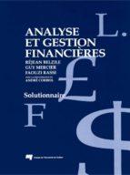 Analyse et gestion financières (ebook)