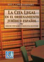 La cita legal en el ordenamiento jurídico español (ebook)