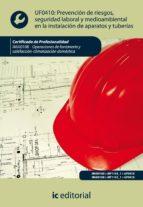 Prevención de riesgos, seguridad laboral y medioambiental en la instalación de aparatos y tuberías. IMAI0108 - Operaciones de fontanería y calefacción-climatización doméstica (ebook)