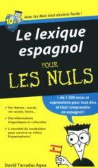 Le lexique espagnol Pour les Nuls (ebook)