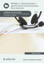Administración y gestión de las comunicaciones de la dirección. ADGG0308 (ebook)
