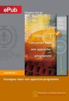 Enseigner à l'université dans une approche-programme (chapitre) (ebook)