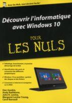 Découvrir l'ordinateur avec Windows 10 Pour les Nuls (ebook)