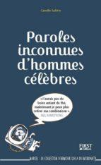 Paroles inconnues d'hommes célèbres (ebook)