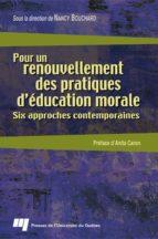 Pour un renouvellement des pratiques d'éducation morale (ebook)