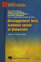 Développement local, économie sociale et démocratie (ebook)