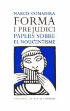 Forma i prejudici (el Noucentisme) (ebook)