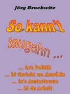 So kann't taugahn ... (ebook)
