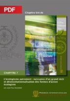L'écologisme autrement : naissance d'un grand récit et désinstitutionnalisation des formes d'action écologiste (Chapitre PDF) (ebook)