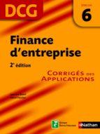 Finance d'entreprise - épreuve 6 - DCG corrigés (ebook)