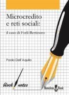 Microcredito e reti sociali (ebook)