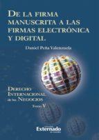 De la firma manuscrita a las firmas electrónica y digital