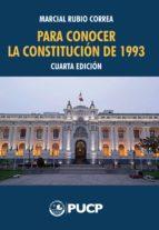Para conocer la Constitución de 1993