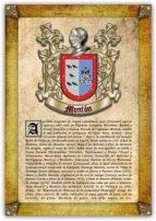 Apellido Montón / Origen, Historia y Heráldica de los linajes y apellidos españoles e hispanoamericanos