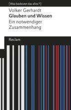 Glauben und Wissen (ebook)
