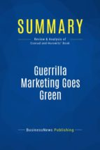 Summary: Guerrilla Marketing Goes Green (ebook)