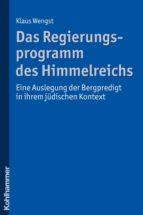 Das Regierungsprogramm des Himmelreichs (ebook)
