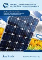 Mantenimiento de instalaciones solares fotovolt�icas. ENAE0108