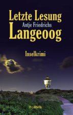 Letzte Lesung Langeoog (ebook)