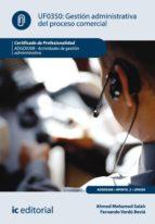 Gestión administrativa del proceso comercial. ADGD0308 (ebook)