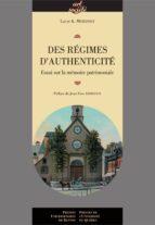 Des régimes d'authenticité (ebook)