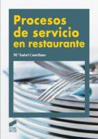 Procesos de servicio en restaurante (ebook)