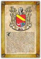 Apellido Sola / Origen, Historia y Heráldica de los linajes y apellidos españoles e hispanoamericanos