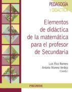 Elementos de didáctica de la matemática para el profesor de Secundaria (ebook)