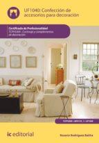Confección de accesorios para decoración. TCPF0309 (ebook)