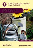 Operaciones culturales, riego y fertilización. AGAH0108  (ebook)
