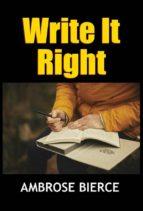 Write It Right (ebook)