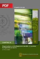 Organisations et développement durable : le système de légitimité en oeuvre (Chapitre PDF) (ebook)