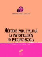 Métodos para evaluar la investigación en psicopedagogía (ebook)