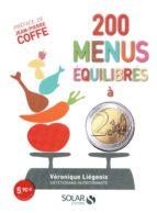 200 menus équilibrés à moins de 2 euros (ebook)
