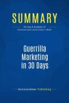 Summary: Guerrilla Marketing in 30 Days (ebook)